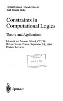 Constraints in Computational Logics