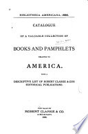 Bibliotheca Americana, 1886