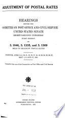 Adjustment Of Postal Rates