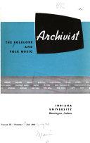 Folklore And Folk Music Archivist