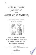 Commentary Upon The Gospel Of St Matthew