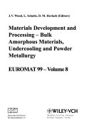 Euromat 99 Materials Development And Processing Book PDF