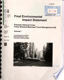 Eldorado National Forest (N.F.), Public Wheeled Motor Vehicle Travel Management