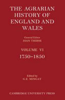 The Agrarian History Of England And Wales Volume 6 1750 1850