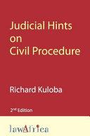 Judicial Hints on Civil Procedure