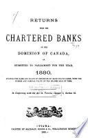 List of Shareholders in the Chartered Banks of the Dominion ...