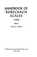 Handbook of Rorschach Scales