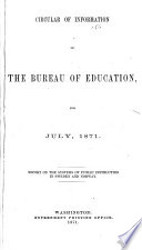 Circulars of Information of the Bureau of Education Book PDF