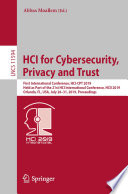 HCI for Cybersecurity  Privacy and Trust Book