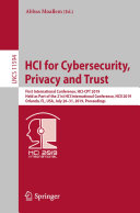 HCI for Cybersecurity  Privacy and Trust