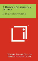 A History Of American Letters