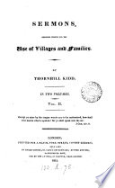 Sermons  Designed Chiefly for the Use of Villages and Families