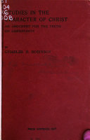 Studies in the Character of Christ