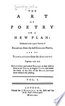 The Art of Poetry on a New Plan