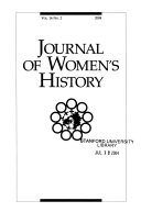 Journal of Women s History Book PDF