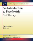 An Introduction to Proofs with Set Theory