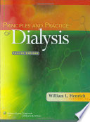 Principles and Practice of Dialysis Book