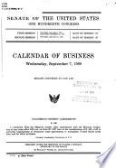 Calendar Of Business