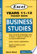 Cover of Excel Years 11-12 Business Studies Pocket Book
