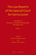 The Law Reports of the Special Court for Sierra Leone