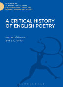 A Critical History of English Poetry
