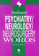 Stedman s Psychiatry neurology neurosurgery Words Book