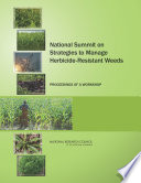 National Summit on Strategies to Manage Herbicide Resistant Weeds Book