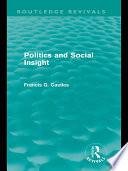 Politics and Social Insight (Routledge Revivals)