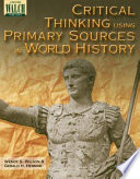 Critical Thinking Using Primary Sources in World History Book