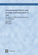 Environmental Policies and Strategic Communication in Iran
