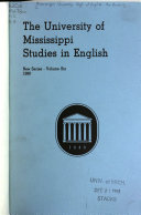 The University of Mississippi Studies in English