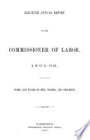 Work and Wages of Men, Women and Children