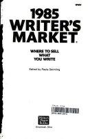 1985 Writer S Market Book