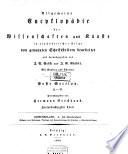Allgemeine Encyclopädie der Wissenschaften und Künste