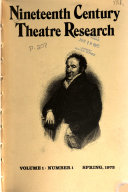Nineteenth Century Theatre Research