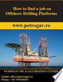 How to find a job on Offshore Drilling Platforms