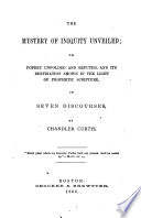 The Mystery of Iniquity Unveiled Book