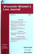 Wisconsin Women s Law Journal