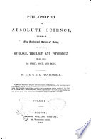 Philosophy as Absolute Science