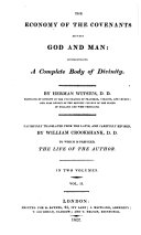 Pdf The oeconomy of the covenants between God and man, comprehending a complete body of divinity ... Faithfully translated from the Latin, and carefully revised, by William Crookshank, D.D. To which is prefixed The life of the author
