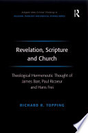 Revelation  Scripture and Church