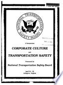 Corporate Culture and Transportation Safety