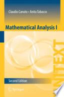 Mathematical Analysis I Book