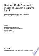 Business Cycle Analysis by Means of Economic Surveys