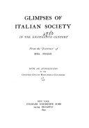 Glimpses of Italian Society in the Eighteenth Century