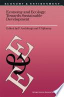 Economy   Ecology  Towards Sustainable Development