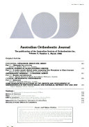 Australian Orthodontic Journal