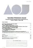 Australian Orthodontic Journal