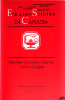 English Studies in Canada