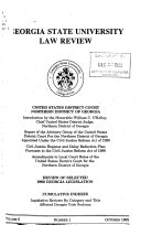 Georgia State University Law Review